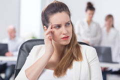 Businesswoman feeling bad at work Stock Photography