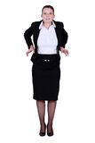 A businesswoman feeling tight. Royalty Free Stock Photography