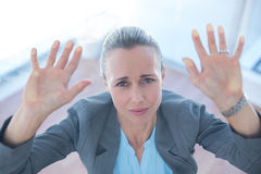 Businesswoman feeling trapped Royalty Free Stock Photography