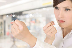 Businesswoman fight Royalty Free Stock Image