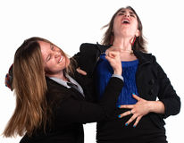 Businesswoman Fighting Each Other Royalty Free Stock Photo