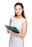 Businesswoman with file folder Stock Photography