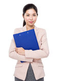 Businesswoman with file folder Stock Images