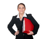 Businesswoman with files Royalty Free Stock Photos