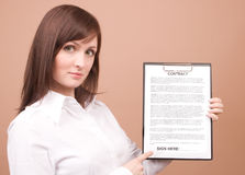 Businesswoman with files Stock Images