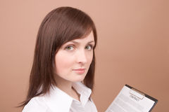 Businesswoman with files Stock Image