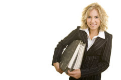 Businesswoman with files Royalty Free Stock Images