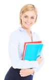 Businesswoman and files Royalty Free Stock Images