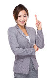 Businesswoman with finger cross Royalty Free Stock Images
