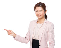 Businesswoman with finger point out Royalty Free Stock Images