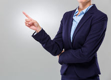 Businesswoman with finger point out Royalty Free Stock Photo