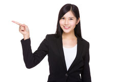 Businesswoman with finger point up Royalty Free Stock Photography