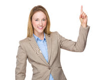 Businesswoman with finger point up Stock Photography