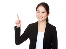 Businesswoman with finger up Stock Image