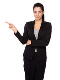 Businesswoman finger up Stock Photography