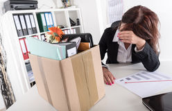 Businesswoman fired because of bad results Royalty Free Stock Photo