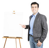 Businesswoman with flipchart Royalty Free Stock Photography