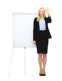 Businesswoman with flipchart in office Royalty Free Stock Images