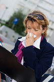 Businesswoman in flu Stock Photos