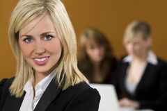 Businesswoman In Focus Royalty Free Stock Image