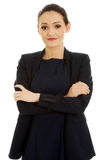 Businesswoman with folded arms. Royalty Free Stock Photo