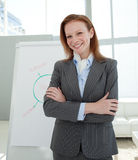 Businesswoman with folded arms at a presentation Stock Image