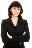 Businesswoman with folded hand Royalty Free Stock Photography