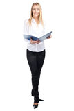 Businesswoman with folder Royalty Free Stock Image