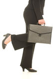 Businesswoman with folder Royalty Free Stock Photography