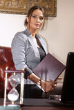 Businesswoman with folder Royalty Free Stock Photo