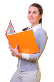 Businesswoman with folder Royalty Free Stock Images