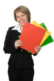 Businesswoman with folder Stock Image