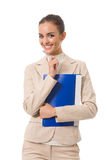 Businesswoman with folder Stock Photography