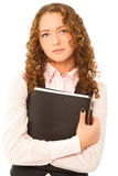 Businesswoman with folder looking to the camera Royalty Free Stock Image