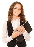 Businesswoman with folder looking to the camera Royalty Free Stock Photo