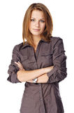 Businesswoman folding her arms Stock Image