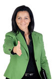 Businesswoman forging a deal Stock Image