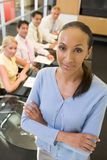 Businesswoman with four businesspeople Royalty Free Stock Photos