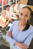 Businesswoman with four businesspeople Stock Image