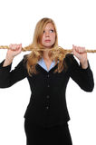Businesswoman with frayed rope Royalty Free Stock Photo