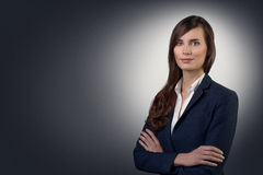 Businesswoman with a friendly expression Royalty Free Stock Photography