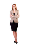 Businesswoman full body isolated on white background Stock Images