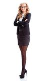 Businesswoman full lenght isolated portrait Stock Photos