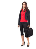 Businesswoman full length Stock Photo