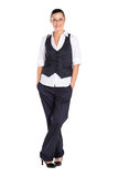 Businesswoman full length Stock Photo