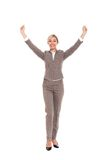 Businesswoman full length isolated Royalty Free Stock Photography