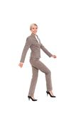 Businesswoman full length isolated Stock Image