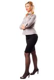 Businesswoman, full length portrait Royalty Free Stock Photography