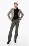 Businesswoman full length portrait Stock Image