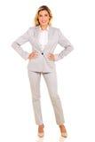 Businesswoman full length portrait Royalty Free Stock Image
